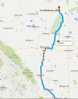 Delivery to/from Calgary/Edmonton/Red Deer/Fort McMurray