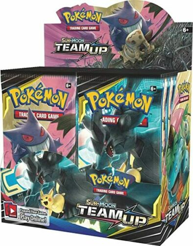 Pokemon Sun /& Moon Team Up Sealed Booster Packs x4-1 of Each Artwork