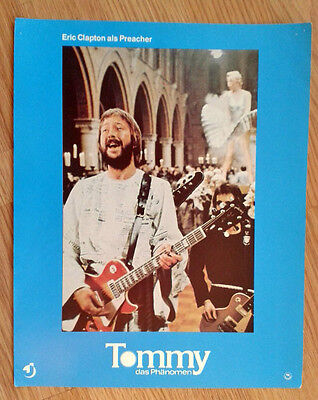 THE WHO vintage German lobby card#1 TOMMY - Eric Clapton 1970s Gibson Les Paul-  ()