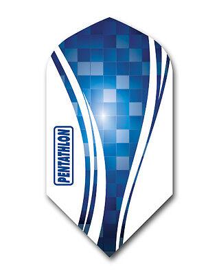 1 Set (3 Flights)  - BLUE Pentathlon Slim Dart Flights Ex-Tough T1034