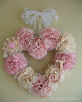 Handmade Princess Wreath/ Baby Nursery Decor/Birthday Decor