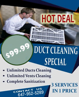 BEST SUMMER OFFER FOR DUCT CLEANING WITH UNLIMITED VENTS $99.99