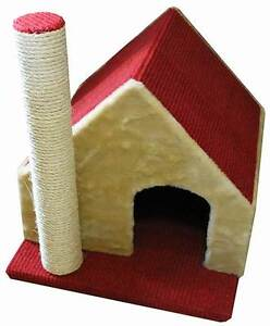 CAT HOUSE WITH SCRATCHING POST Brendale Pine Rivers Area Preview