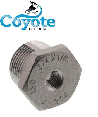 304 Ss 34 Male X 18 Female Npt Thread Hex Reducer Bushing Stainless Steel
