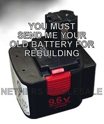 Rebuild Service Max Usa Jp409 9.6v Battery For Rb395 Rb392 Rb515 Rebar Tool
