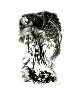 Gothic Tattoos (Grim Reaper Death Gothic Tattoo Waterproof Body Art Stickers Removable)