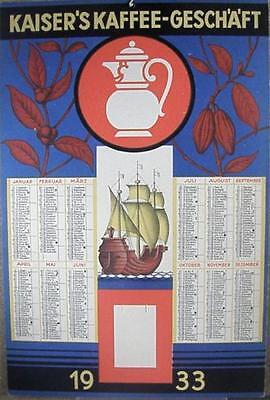 Kaiser´s Kaffee-Geschäft Wandkalender 1933 (15433)