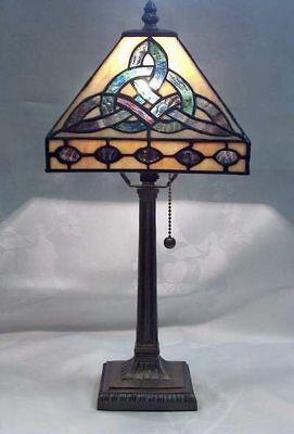 """(Trinity Knot Tiffany Style Celtic Lamp 18"""" BOE649)"""