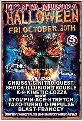 MONTA MUSICA HALLOWEEN 30TH OCTOBER 2015 5 X CDS](Cd Musica Halloween)