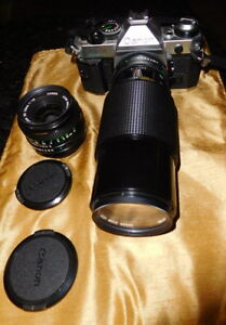 Vintage CANON AE-1 PROGRAM 35MM SLR CAMERA With strap, 50MM 1:1