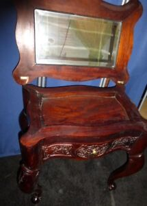 Antique Cherry Wood VANITY Desk Hall Table AS IS-