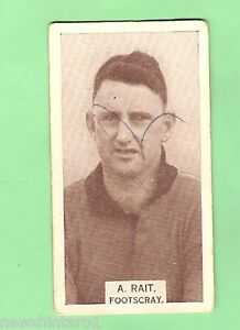 1933-VFL-WILLS-CIGARETTE-CARD-99-A-RAIT-FOOTSCRAY