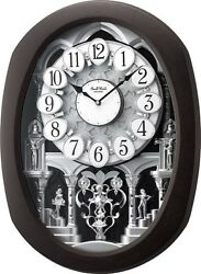 (New!) ENCORE ESPRESSO Magic Musical Motion Clock Rhythm Clocks 4MH896WU06