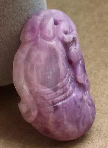 27.3Ct Rare Natural Beautiful Sugilite Carving Gourd Quartz Pendant Polished