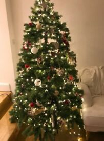 Almost new Christmas tree realistic look real feel effect lovely green 6.5ft 1.90