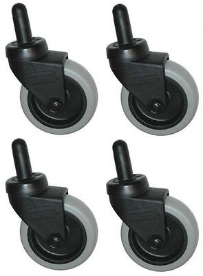 Rubbermaid Mop Bucket Casters 7570-l2 - 3 Non-marking Wheels - Set Of 4