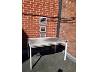 FREE Scrap metal old table with metal legs and wooden top