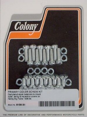 Primary Cover Kit (PRIMARY COVER SCREW KIT Harley Knucklehead Panhead)