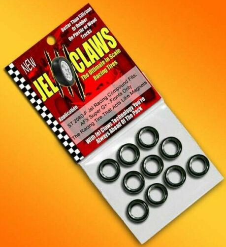 Jel Claws Front HO 1/64 Slot Car Tires - AFX Super G+ ST-2060-F