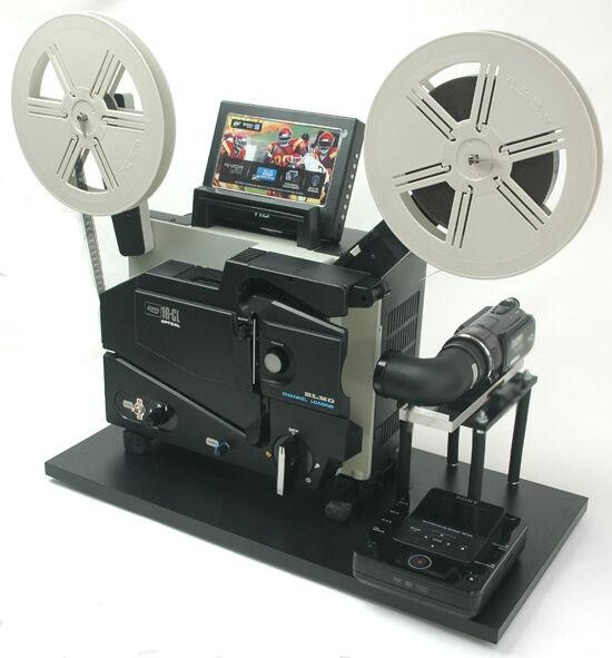 ELMO 16mm Optical  Projector Telecine Video Transfer Built-In NTSC-2K HD Camera