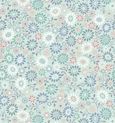 BLUE ALL AROUND DAISY BY LEWIS & IRENE - COTTON FABRIC FQ'S
