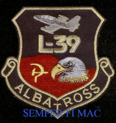 L-39 ALBATROSS HAT PATCH SOVIET FLAG PIN UP JET TRAINER BALD EAGLE PILOT CREW for sale  Lake Forest