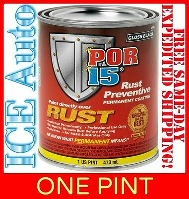 3 Day Sale   Por 15 Rust Preventative Paint   Semi Gloss Black 45408   1 Pint