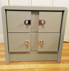 Two Drawers Solid Wood Side Dresser/Night Stand (PIERREFONDS)