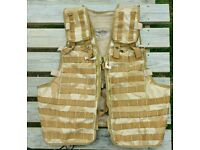 British army issue Tactical load carrier desert dmp molle vest. Airsoft paintball