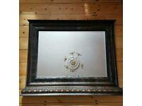 Mirror Antique bevelled framed.