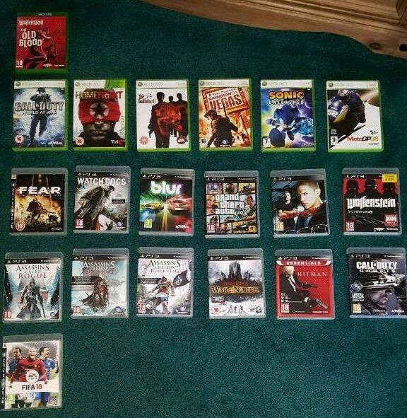 Various Games for Xbox One, Xbox 360 and PS3