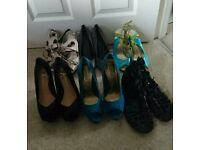 Size 6 assortment of shoes
