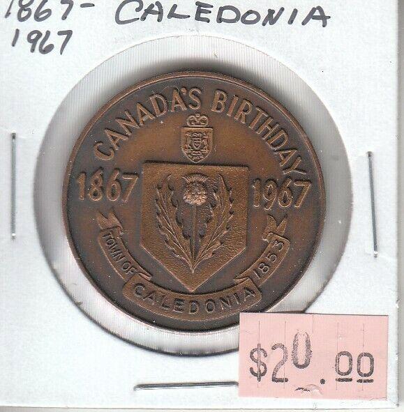 Canada Centennial Token - Caledonia Ontario 1967