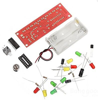 Cd4017 Voice Control Led Flashing Diy Learning Kit - Us Seller Fast Shipping