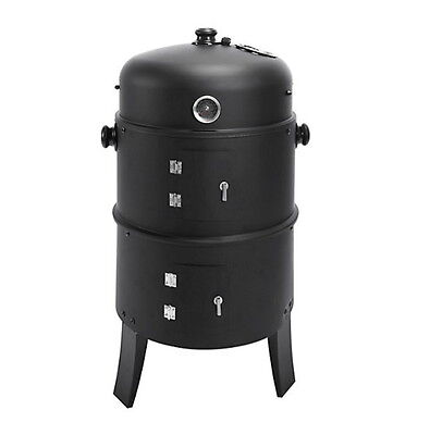 Räucherofen 3in1 zum Räuchern, Grillen und Smoken - Grill Räuchertonne BBQ - NEU