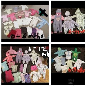 LARGE lot of BABY CLOTHES (0-12 months)