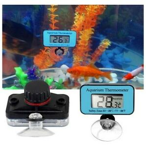 Geniune Blue Digital LCD Aquarium Waterproof Thermometer Submersible Pool Tank