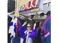Fashion Retail Sales Assistant (90zBACK vintage, Camden Market) (Market Stall)