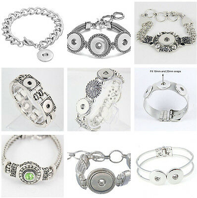 2016 Interchangeable snap bracelets jewelry fit for 18mm snaps chunk buttons](Jewelry Snaps)