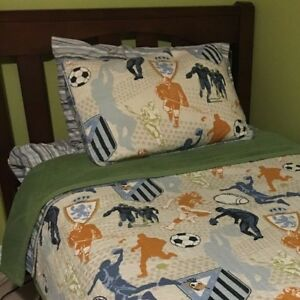 TWO Sets Sports Themed Twin Bedding
