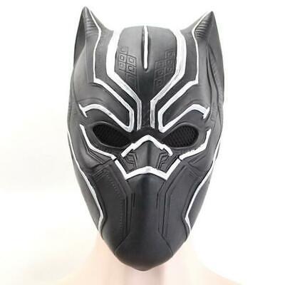 Black Hero Mask (Halloween Marvel Super Hero Black Panther Latex Mask Headgear Party Cosplay)