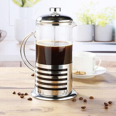Kaffee - und Teekanne aus Glas mit satiniertem Edelstahl