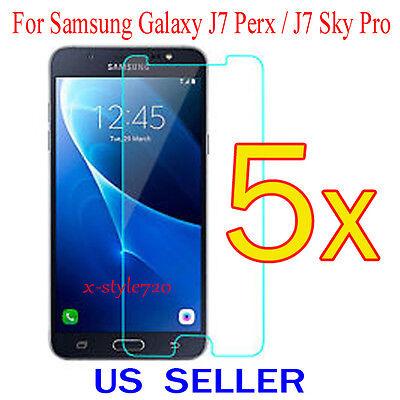 5x Clear Screen Protector Guard Cover Film Samsung Galaxy J7 Perx / J7 Sky Pro