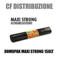300 Sacchi Domopak Maxi Strong 80x120 Sacco Nero Spazzatura -  - ebay.it