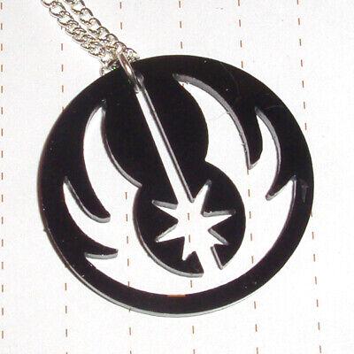 80s Super Hero Star Wars Jedi Order Logo Charm Necklace Fancy Dress