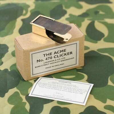 UK Made US WW2 No. 470 ACME Clicker. The original paratrooper cricket. Brass