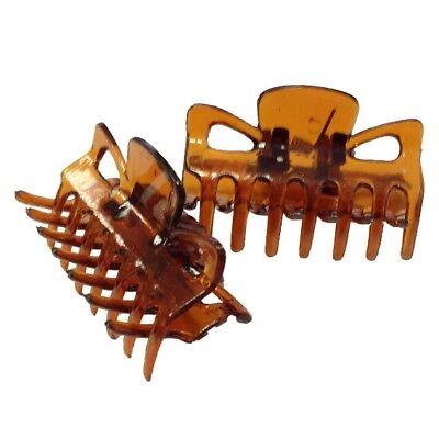 Glaw Haarclips Havanna 3,5 cm 4 Stück - Havanna 3 Stück