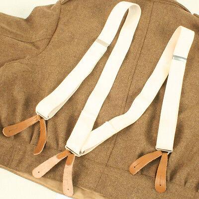 British WW1 and WW2 style White Elastic Braces BE467