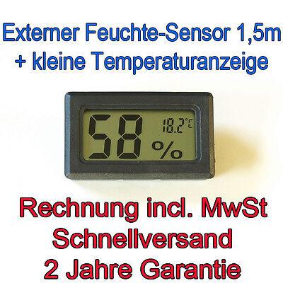 Hygrometer 1,5m Sensorkabel + Thermometer Digital Hydrometer Feuchte-messer