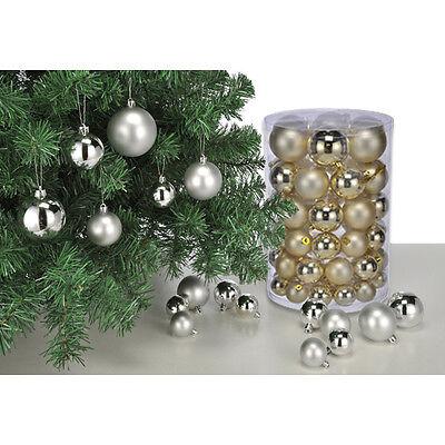 Christbaumkugeln 60 Stück GOLD Weihnachtsbaumkugeln Christbaumschmuck Weihnacht